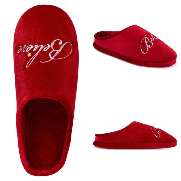 4e171298d48 Charter Club Holiday Clog Slippers Red Believe